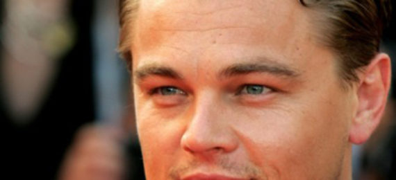 A picture of Leonardo DiCaprio smiling with the sun shining on his face.