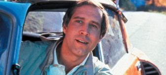 Chevy Chase is driving
