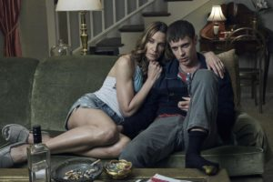 A picture of Killer Brady and his mom sitting on the couch watching tv. She's a little too cozy with him. Ewww....