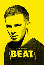 A yellow poster with a headshot of Beat and the name